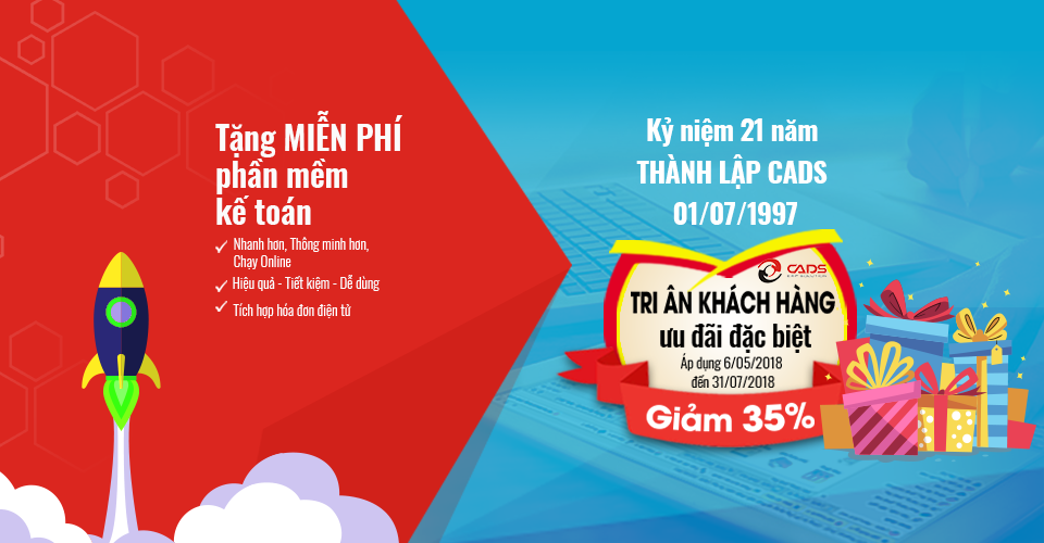 35% discount on the 21st anniversary of CADS (01/07/1997)